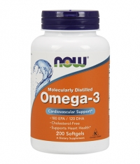 NOW Omega 3 Fish Oil 1000 mg. / 200 Softgels
