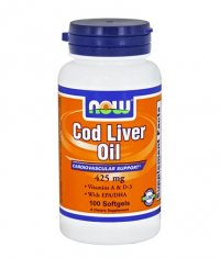 NOW Cod Liver Oil 425mg. / 100 Softgels