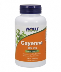 NOW Cayenne 500mg. / 100 Caps.
