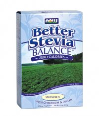 NOW Stevia Balance with Inulin & Chromium 100 Packs
