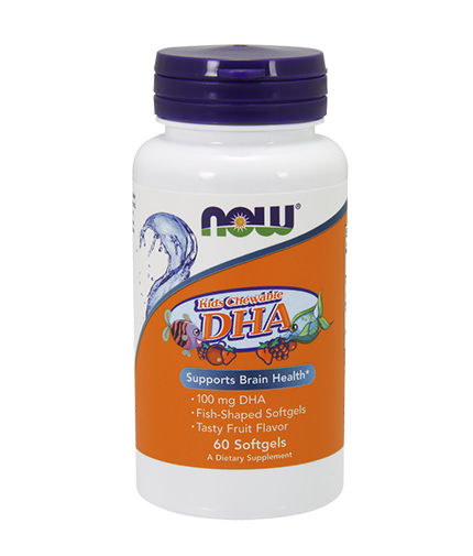 NOW DHA Kid's Chewable 100mg. / 60 Softgels
