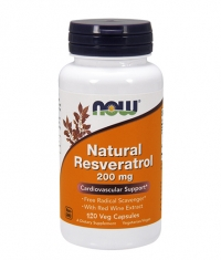 NOW Natural Resveratrol /Mega Potency/ 200mg. / 120 VCaps.