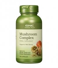 GNC Herbal Plus Formula Mushroom Complex 100 Vcaps.