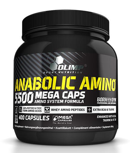OLIMP Anabolic Amino 5500 Mega Caps - 400 Caps.