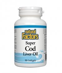 NATURAL FACTORS Super Cod Liver Oil 1100mg. / 90 Softgels.