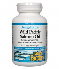 NATURAL FACTORS Wild Pacific Salmon Oil 1000mg. / 90 Softgels