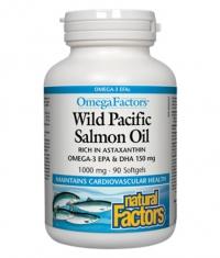 NATURAL FACTORS Wild Pacific Salmon Oil 1000mg. / 90 Softgels