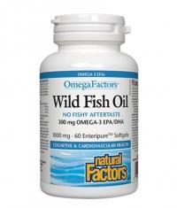NATURAL FACTORS Wild Fish Oil 1000mg. / 60 Softgels