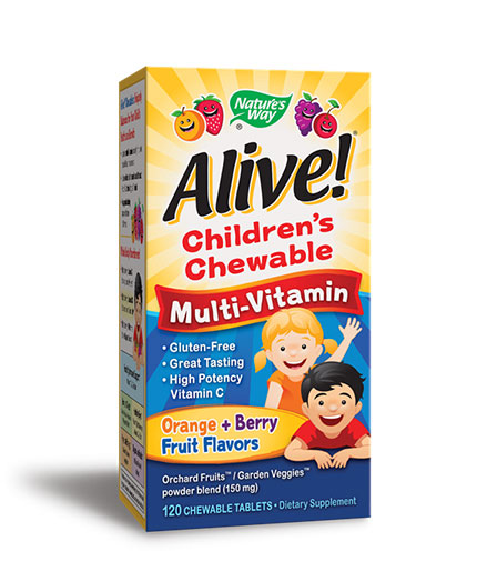 NATURES WAY Alive Children's Multi-Vitamin Chewable 120 Tabs