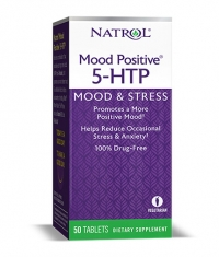 NATROL 5-HTP Mood Positive 100mg. / 50 Tabs.
