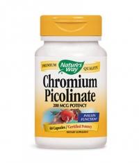 NATURES WAY Chromium Picolinate 60 Caps.