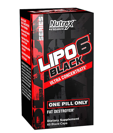 nutrex Lipo 6 Black Ultraconcentrate 60 Caps.