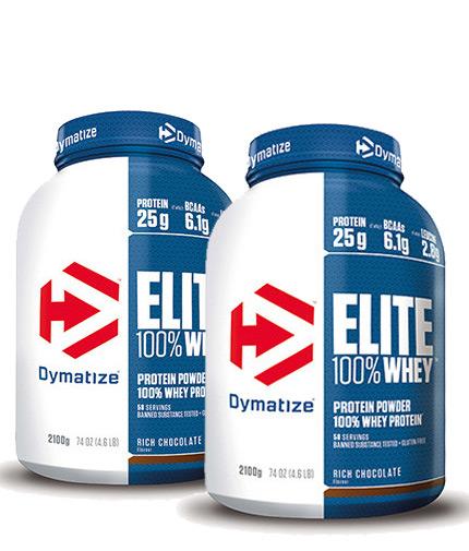 PROMO STACK Dymatize Elite Whey Protein 5 Lbs. / x2