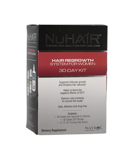 NuHAIR Women's Kit /Hair Regrowth + DHT Blocker + Thinning Hair Serum/ 30 Day Supply