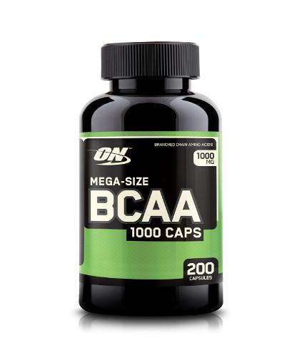 optimum-nutrition BCAA Mega-Size 1000mg. / 200 Caps.
