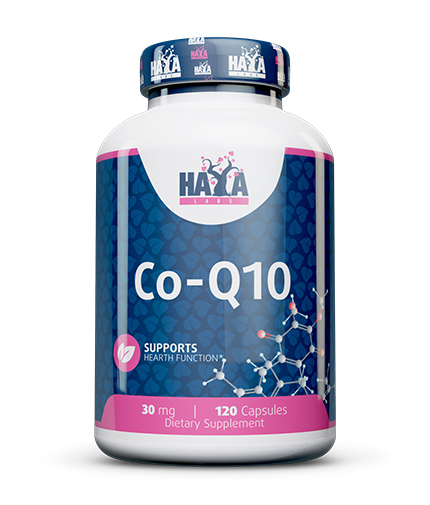 HAYA LABS Co-Q10 30mg. / 120 Vcaps.