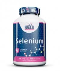 HAYA LABS Selenium /Chelated -yeast free/ 100mcg. / 120 Vcaps.