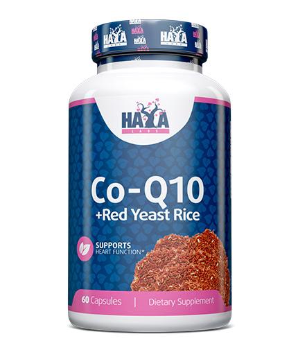 HAYA LABS Co-Q10 60mg. & Red Yeast Rice 500mg. / 60caps.