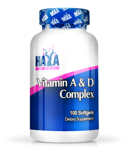 HAYA LABS Vitamin A & D Complex 100 Softgels