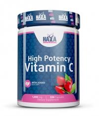 HAYA LABS High Potency Vitamin C 1,000mg with Rose Hips 250 Vtabs.
