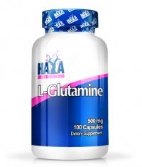 HAYA LABS L-Glutamine 500mg. / 100caps.