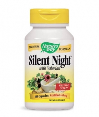 NATURES WAY Silent Night With Valerian 100 Caps.