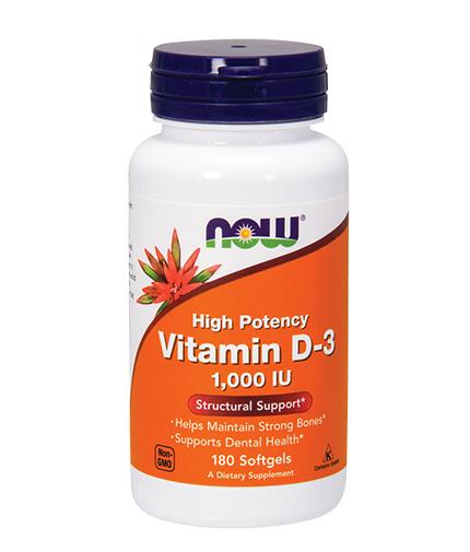 now Vitamin D-3 /1000IU / 180 Softgels