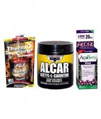 PROMO STACK Natrol Acai Berry Diet / Amix Thermo Core / Primaforce Alcar