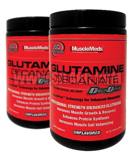 PROMO STACK Musclemeds Glutamine Decanate 300g. / x2