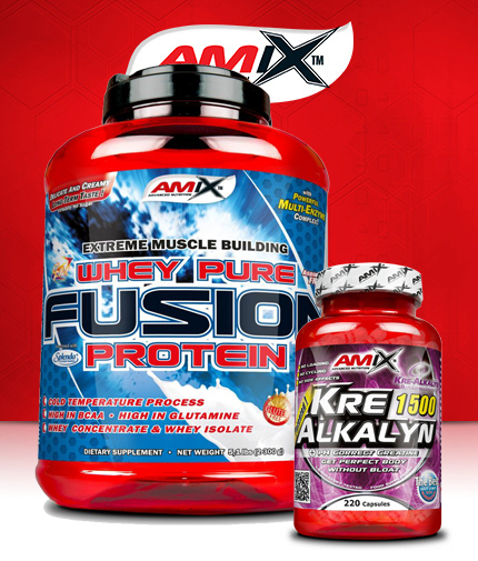 PROMO STACK Amix Whey Pure Fusion 5 Lbs. / Amix Kre-Alkalyn 220 Caps.