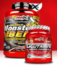 PROMO STACK Amix Monster Beef 5 Lbs. / Amix L-Glutamine 500g.
