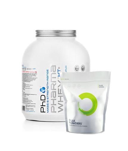 PROMO STACK PhD Pharma Whey HT 5 Lbs. / Bulk Powders Creatine HCL