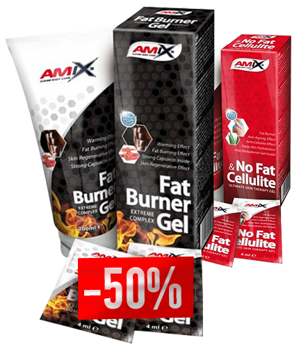 PROMO STACK Amix Fat Burner Gel + Amix No Fat & Cellulite -50%