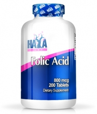 HAYA LABS Folic Acid 800mcg / 200 Tabs.