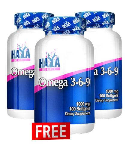 PROMO STACK Haya Labs Omega 3-6-9 / 2+1 FREE