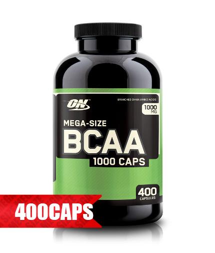 optimum-nutrition BCAA Mega-Size 1000mg. / 400 Caps.