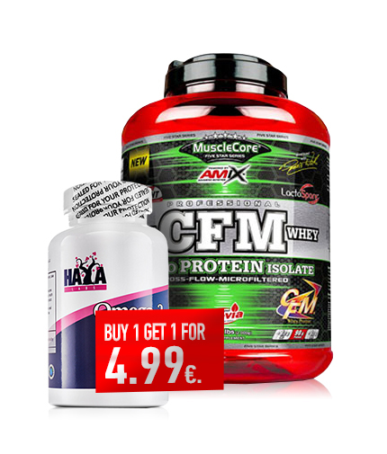 promo-stack AMIX CFM Nitro Protein Isolate / Haya Omega 3 1000mg 100 softgels for 4.99