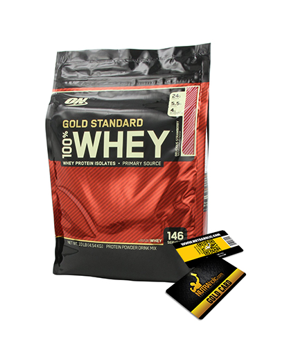 PROMO STACK OPTIMUM NUTRITION 100% Whey Gold Standard + NUTRAHOLIC Gold Card 50%OFF