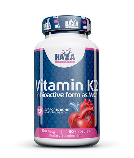 HAYA LABS Vitamin K2-Mk7 100mcg 60 Caps