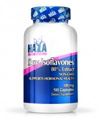 HAYA LABS Soy Isoflavones 80% Extract NON-GMO  100mg / 100caps