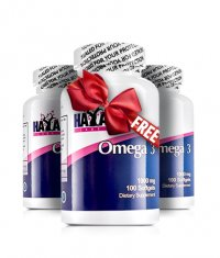 PROMO STACK HAYA LABS Omega 3 1000mg. / 100 Softgels 2+1 FREE