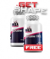 PROMO STACK HAYA LABS Betaine HCL 650mg / 90 Tabs. 1+1 FREE!