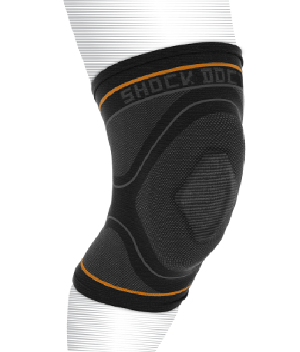 shock-doctor Compression Knit Knee Sleeve With Gel Support